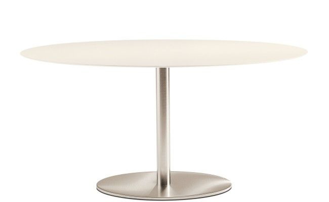 Inox Ellittico dining table from Pedrali, designed by Pedrali R&D