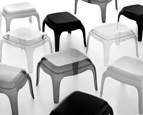 Pasha Pouf lounge chair from Pedrali, designed by Dondoli and Pocci