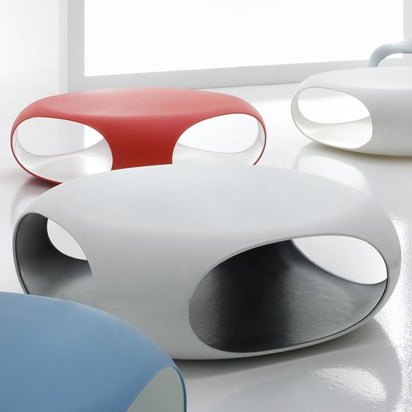 Bonaldo Pebble Plastic Coffee Table Contemporary Living