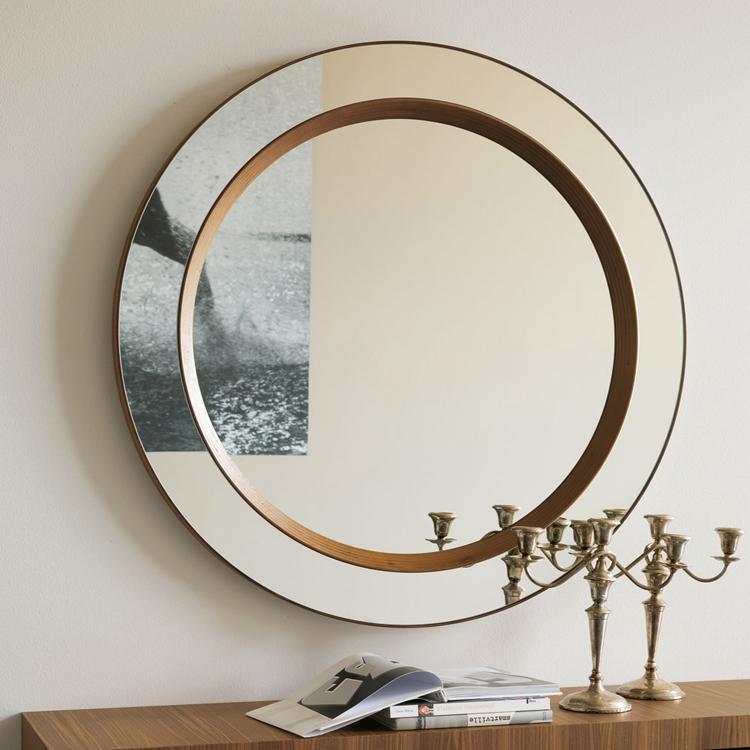 Miss Tondo mirror from Porada, designed by T. Colzani