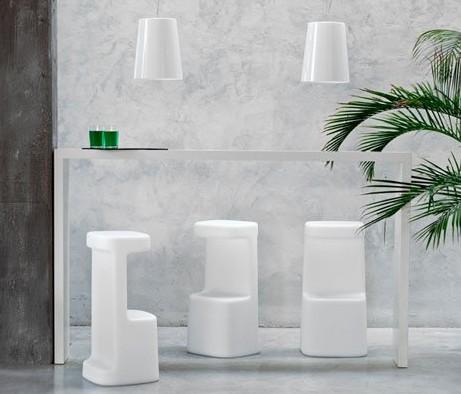 Serif stool from Pedrali, designed by Odoardo Fioravanti