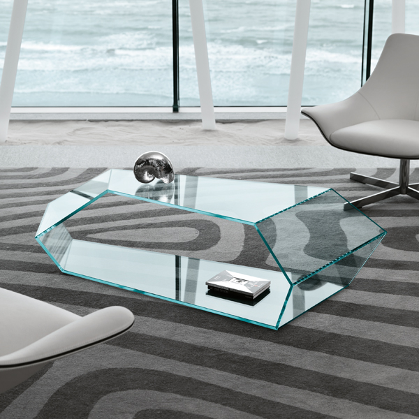 Dekon 2 coffee table from Tonelli, designed by Karim Rashid