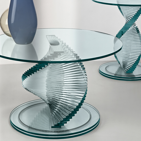 Elica, end table from Tonelli, designed by Isao Hosoe