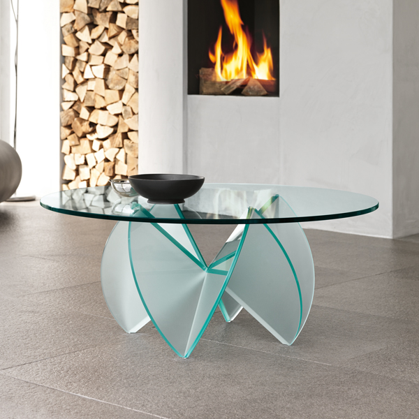 Rosa del Deserto coffee table from Tonelli, designed by D'Urbino and Lomazzi