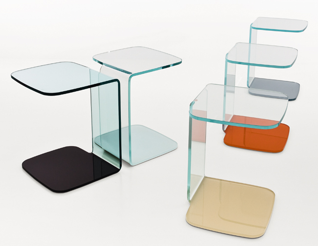 Shell end table from Sovet, designed by Lievore Altherr Molina