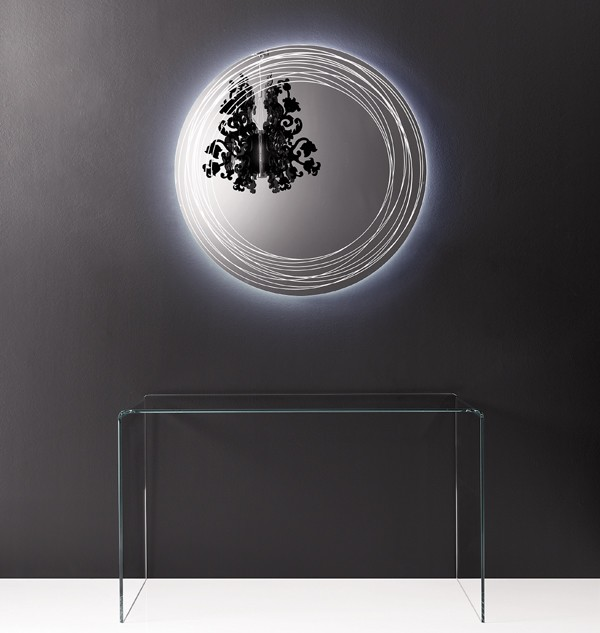 Vertigo mirror from Sovet, designed by Gianluigi Landoni