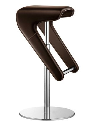 Woody Leather stool from Pedrali, designed by Odoardo Fioravanti