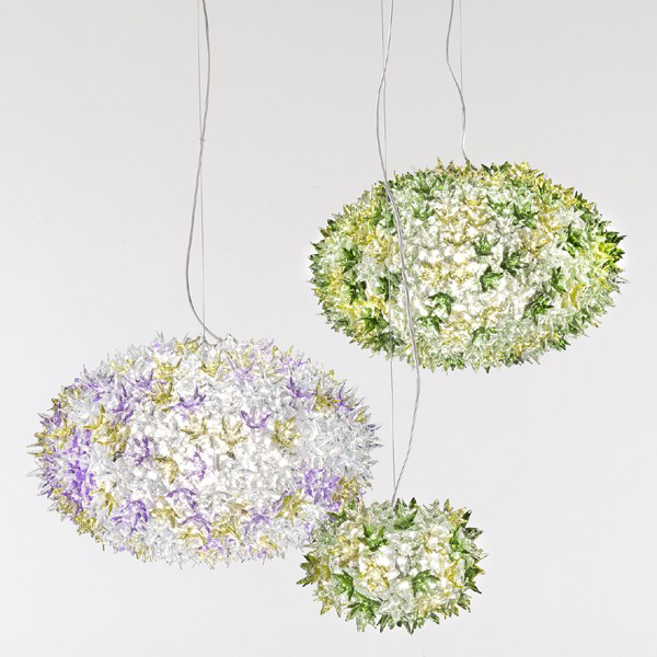 Bloom Suspension lighting from Kartell, designed by Ferruccio Laviani