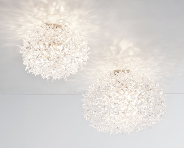 Bloom Wall/Ceiling lighting from Kartell, designed by Ferruccio Laviani