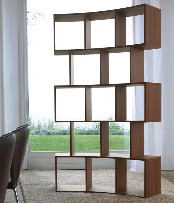 River bookcase from Antonello Italia, designed by Gino Carollo