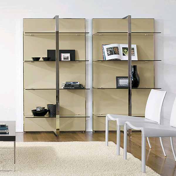Gil bookcase from Antonello Italia, designed by Gino Carollo