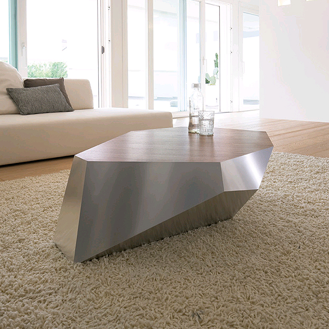 Diamante, coffee table from Antonello Italia, designed by Gino Carollo