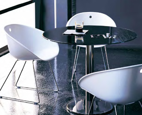 Inox dining table from Pedrali