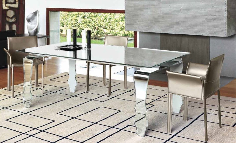 Encio Fixed dining table from Unico Italia