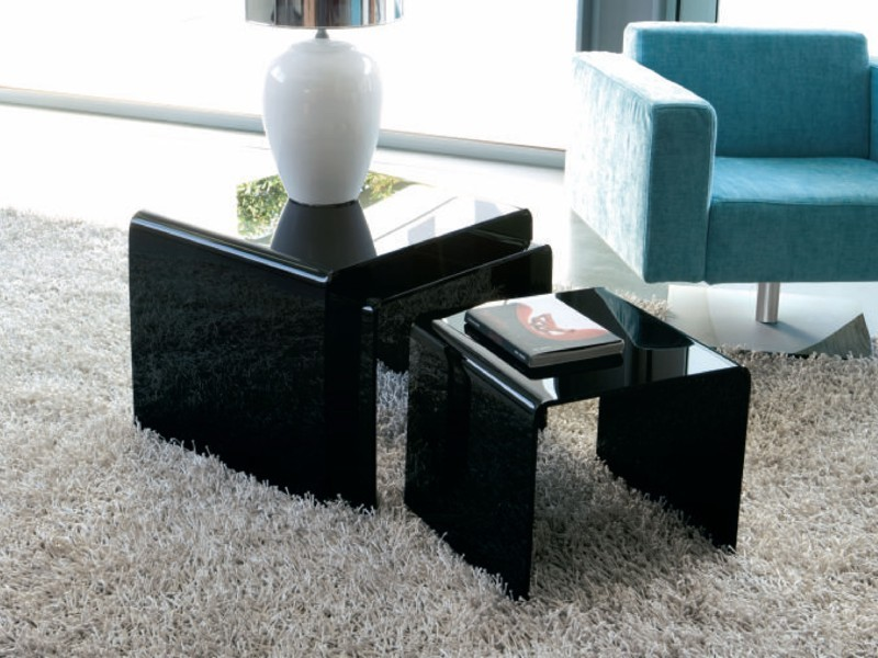 Golden Tris end table from Unico Italia