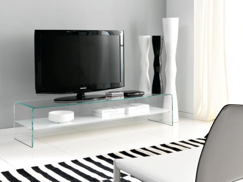 half off fd241 b4bec Unico Italia Bridge, Glass Tv Unit | Contemporary Living Room ...
