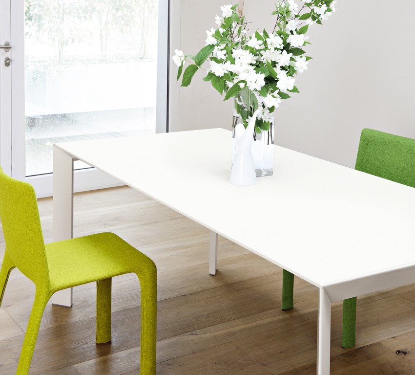 Nori Alucompact dining table from Kristalia, designed by Bartoli Design