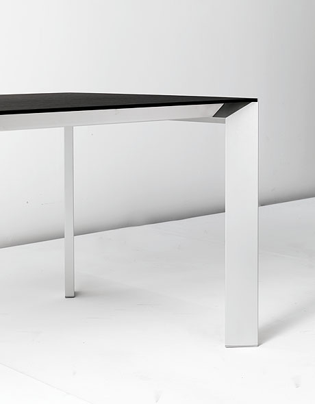 Nori Glass dining table from Kristalia