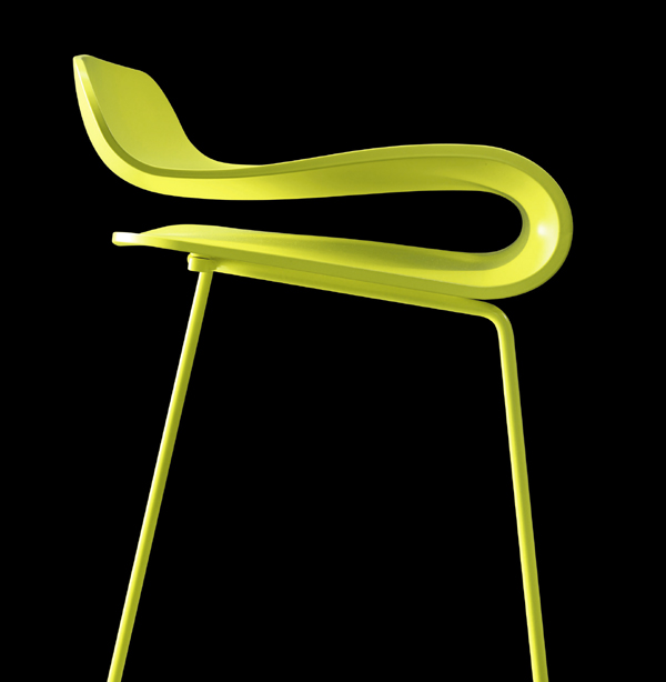 BCN Fixed stool from Kristalia
