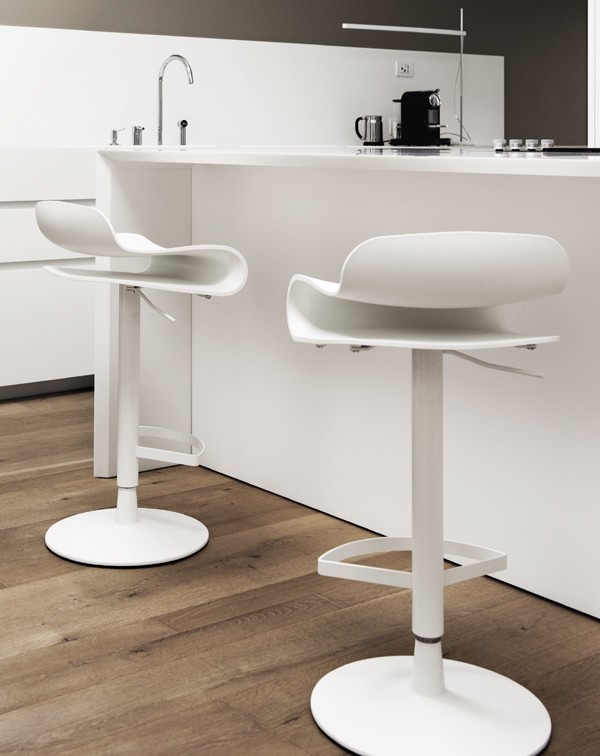 BCN Height Adjustable stool from Kristalia, designed by Harry-Paul