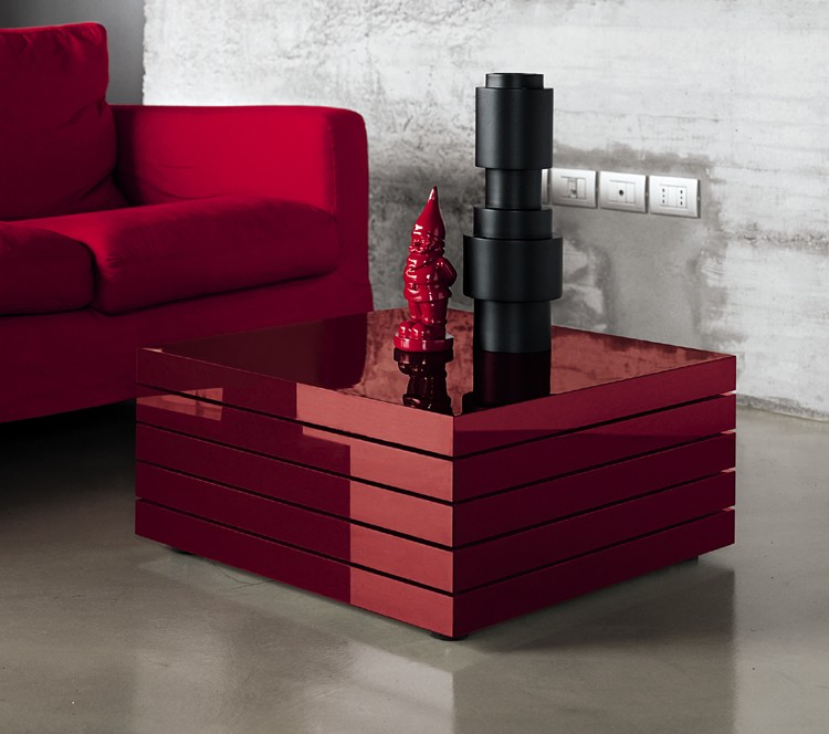 Rotor coffee table from Kristalia
