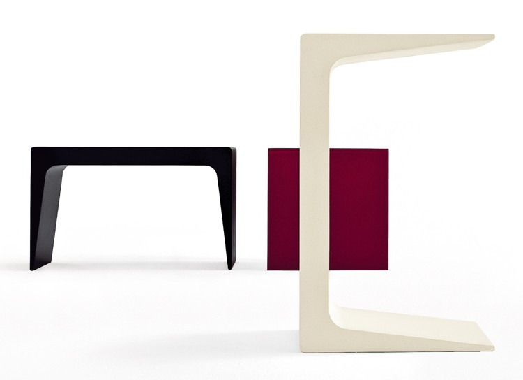 CU end table from Kristalia, designed by Monica Graffeo