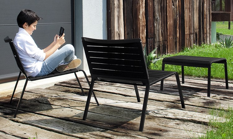 Rest Footrest, lounge chair from Kristalia