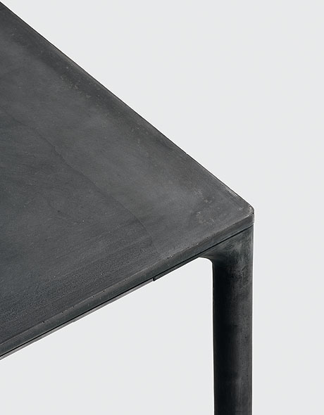 Boiacca, dining table from Kristalia