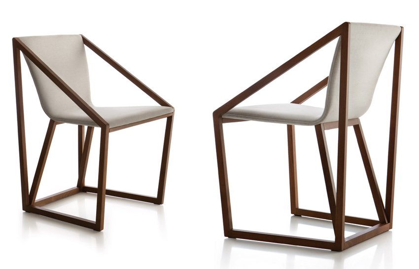 Kite KIS201 chair from Fornasarig, designed by Shin Azumi