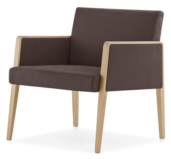 Pedrali Jil 521 Wooden Lounge Chair Contemporary Living