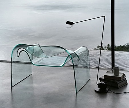 Ghost lounge chair from Fiam, designed by Cini Boeri