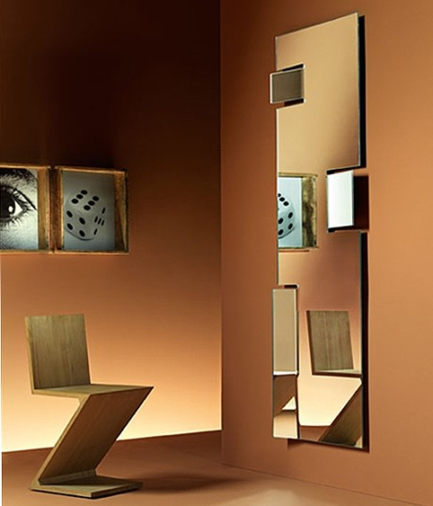 Hiroshi mirror from Fiam, designed by Marta Laudani and Marco Romanelli