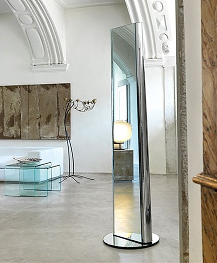 Mir mirror from Fiam, designed by Roberto Paoli