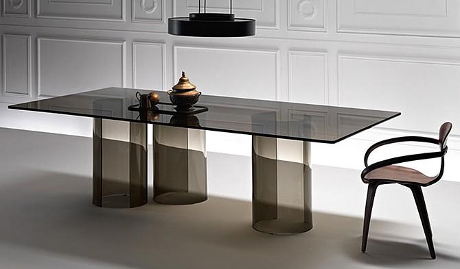 Luxor desk from Fiam, designed by Rodolfo Dordoni