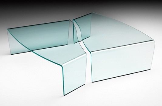 Virgola, coffee table from Fiam