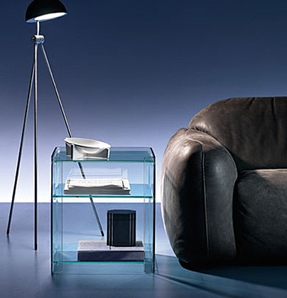 Milo end table from Fiam, designed by Ilaria Marelli