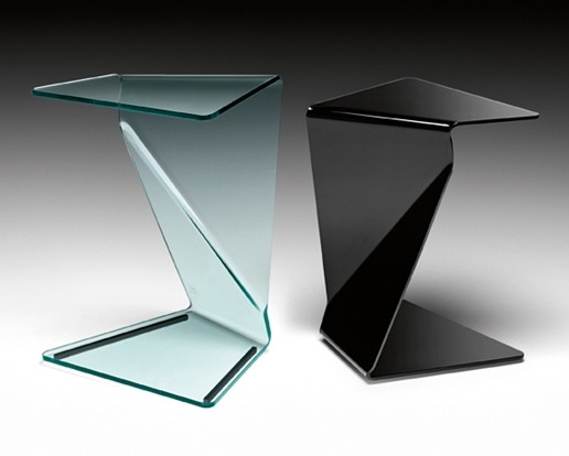 Sigmy end table from Fiam, designed by Aquili Alberg