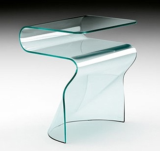 Toki end table from Fiam, designed by Setsu et Shinobu Ito
