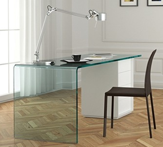 Rialto L desk from Fiam, designed by CRS Fiam