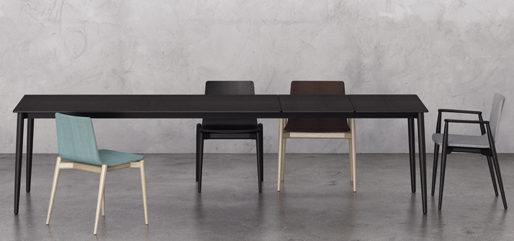 Malmo dining table from Pedrali, designed by CMP Design