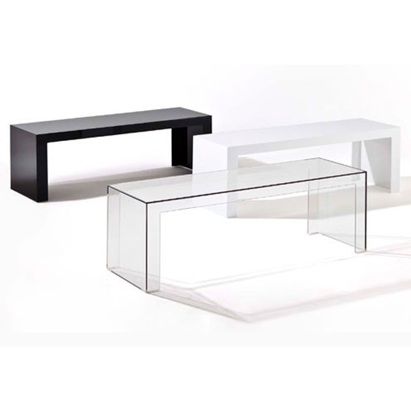 Invisible Side end table from Kartell, designed by Tokujin Yoshioka