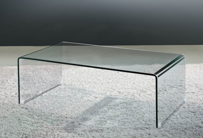 Viva Modern Arch Waterfall Coffee Table Gl