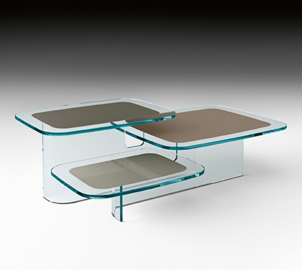 Paesaggi, end table from Fiam