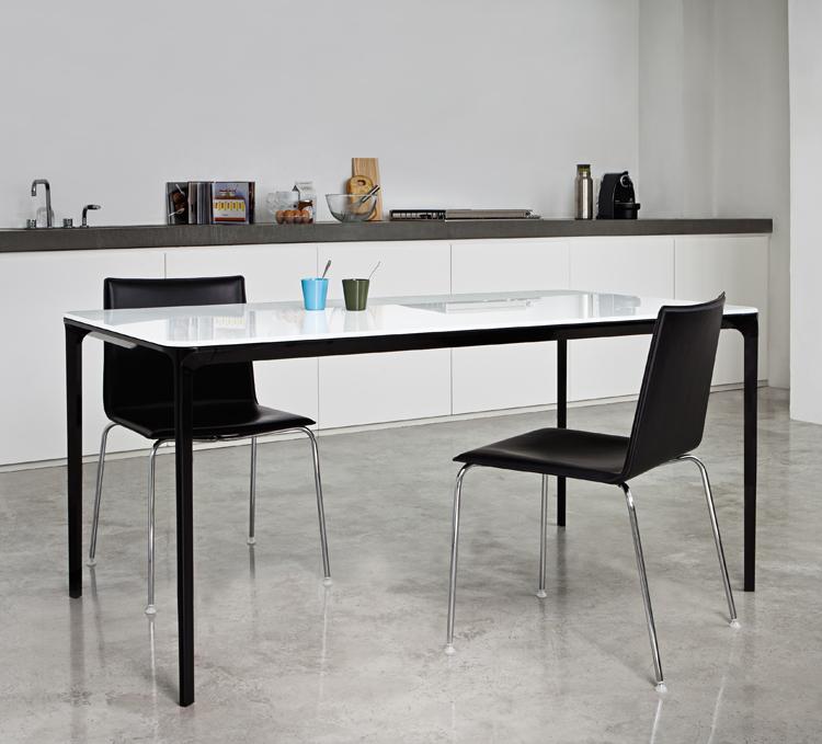 Sovet Slim Extending Glass Dining Table Contemporary