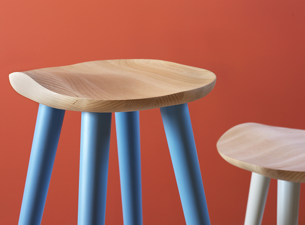 Lechuck stool from Miniforms, designed by Giorgio Biscaro