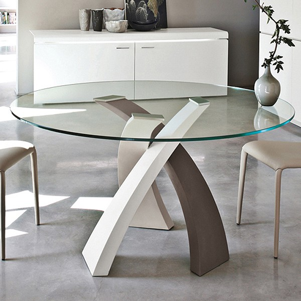 Tonin Casa Eliseo 8028 Metal Dining Table Contemporary
