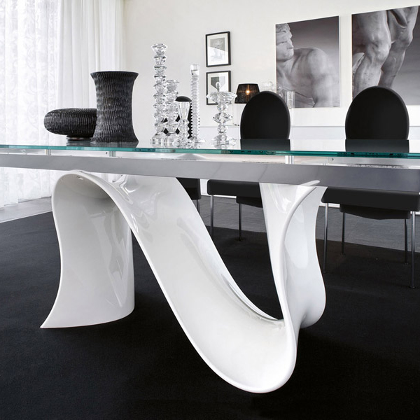 Wave 8014 Extending dining table from Tonin Casa