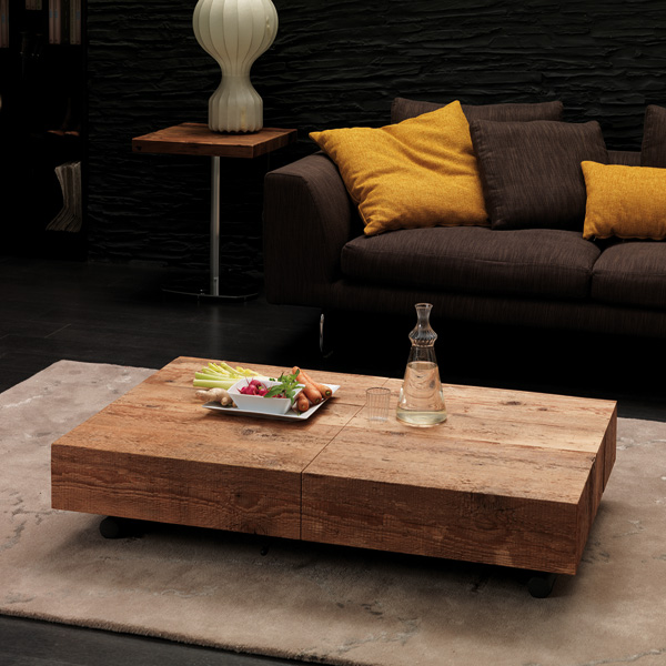 Box Legno T111 coffee table from Ozzio
