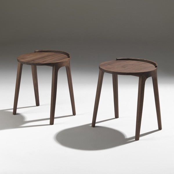 Deck end table from Porada, designed by P. Salvadé