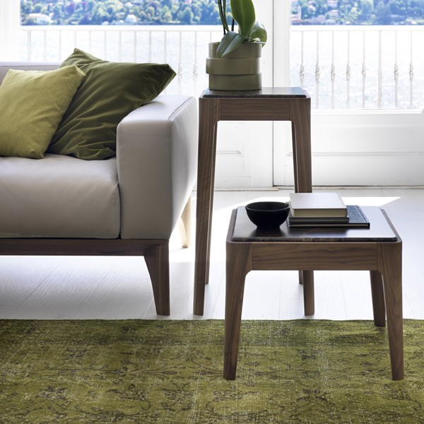 Ziggy Side Table end from Porada, designed by C. Ballabio